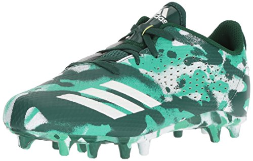 (adidas Unisex Adizero 5-Star 7.0 Football Shoe, White/Collegiate hi-res Green, 5.5 M US Big Kid)