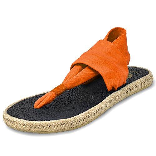 Sandals Espadrilles Nalho Mat Ganika Foam Women's Orange Memory Yoga 4YYwFqg