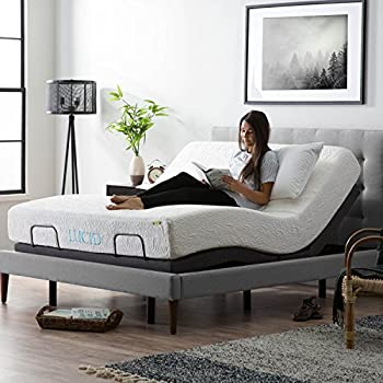 LUCID L300 Adjustable Bed Base   Motorized   Assembles In 5 Minutes   Dual  USB Charging