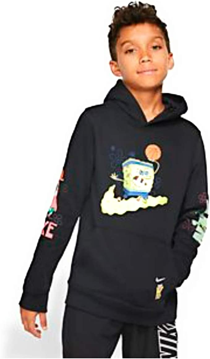 voluntario algas marinas Tejido  Amazon.com: Nike Kyrie X Spongebob - Sudadera con capucha para niño (12-14  años), color negro: Clothing