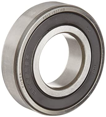 FAG 6214-2RSR-C3 Deep Groove Ball Bearing, Single Row, Double Sealed, Steel Cage, C3 Clearance, Metric, 70mm ID, 125mm OD, 24mm Width, 3400rpm Maximum Rotational Speed, 10100lbf Static Load Capacity, 13600lbf Dynamic Load Capacity