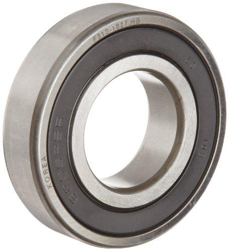 Fag Bearings - FAG 6202-2RSR-C3 Deep Groove Ball Bearing, Single Row, Double Sealed, Steel Cage, C3 Clearance, Metric, 15mm ID, 35mm OD, 11mm Width, 14000rpm Maximum Rotational Speed, 843lbf Static Load Capacity, 1750lbf Dynamic Load Capacity