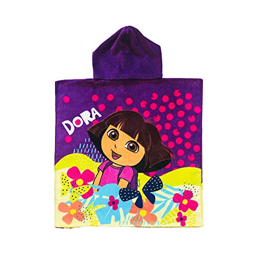 Dora the Explorer Butterfly and Flowers Purple Hooded - Towels Explorer Dora The