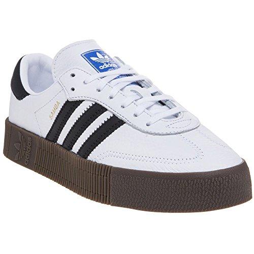 adidas Originals Women's Sambarose Shoes Cloud White/Core Black/Gum 6.5 M US (Samba White Adidas)