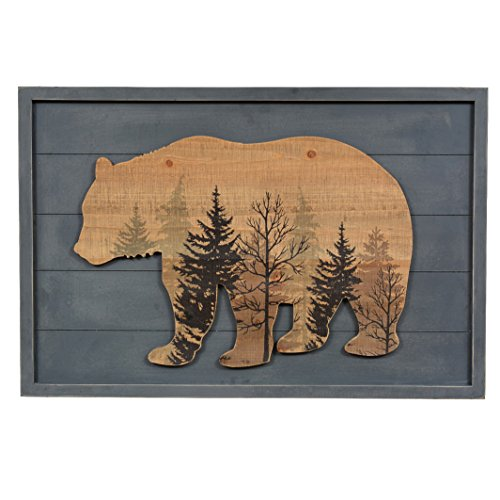 BLACK FOREST DECOR Wood Bear Lodge Sign