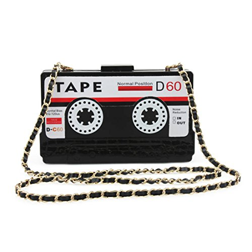 Kuang Women's Novelty Tape Shaped Shoulder Bag Vintage Clutch Evening Bag