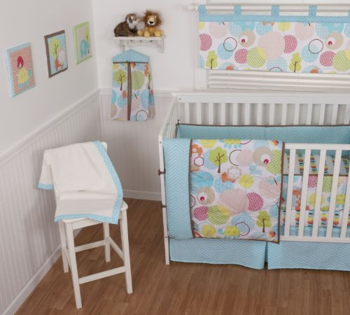 (Sumersault 4 Piece Crib Set, Sweet Petite Animals)