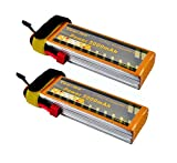 Youme 2Pcs 5000mAh 11.1V 3S Lipo Battery Pack 50C Max 100C with Deans T Plug for RC Helicopter,RC Car,RC Multirotor, RC Drone,RC Boat,RC Truck