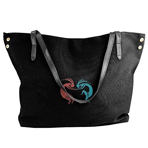 Bags Dance Black Black Capacity Bags Hobo Indian Handbags Fashion Shoulder Women Canvas Tote Handbags Large rarqg7