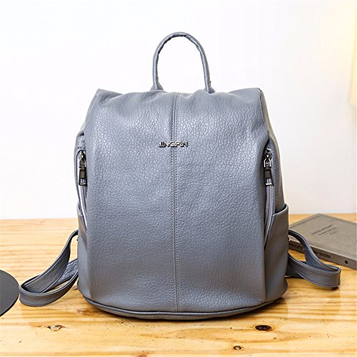 pour à Wanjiamen'shop sac femme à multifonction pour dos bandoulière femme à dos gris Sac XZxa8wqZ6