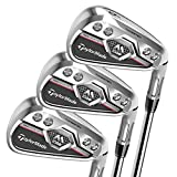 TaylorMade Golf MCGB Men's Iron Set (Set of 8 total clubs: Graphite Regular Flex 4-PW AW Iron Set, Left Hand)