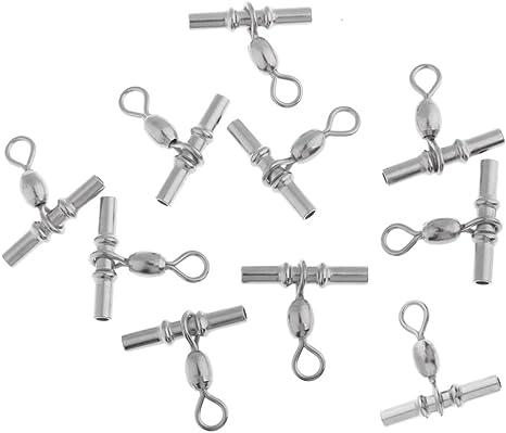 morsetti di collegamento 50 girelle girevoli da pesca accessori per attrezzi da pesca con cuscinetti a sfera fissi in rame e acciaio inox.