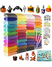 Air Dry Clay 48 Pieces 26.4 Ounce, Modeling Clay 48 Colors, Magic Clay with Tools and Manuals (750 Gram), Christmas Boxes (48)