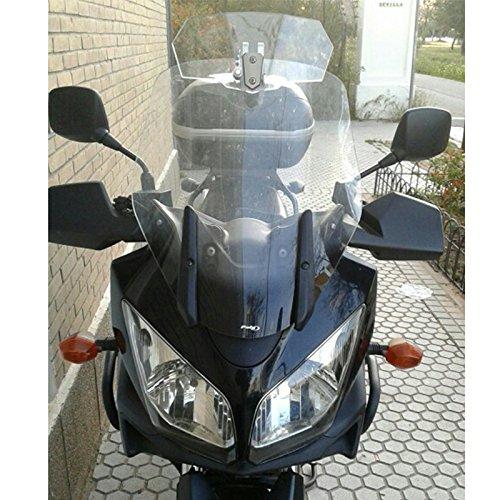 MeterMall Deflector de Viento Universal Ajustable del Parabrisas de la Motocicleta para Honda Suzuki Kawasaki Yamaha Ducati BMW KTM