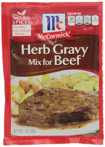 McCormick Herb Gravy Mix For Beef, 1 oz (Pack of 12)