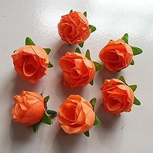 Artificial Silk Rose Head Colorfulife® 3cm Simulation Flower Bud Wedding Home Party Garden Decoration for Bridal Bouquet Wreath Headwear Clip DIY Accessories 100