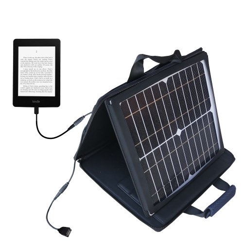 Gomadic SunVolt Powerful and Portable Solar Charger suitable for the Amazon Kindle Paperwhite - Incredible charge speeds for up to two devices by Gomadic