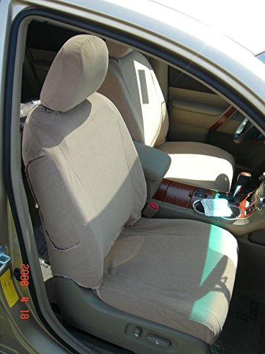 V2 Full Cover (Durafit Seat Covers T1003-V2 Toyota Prius Front Seat Covers in Beige velour)