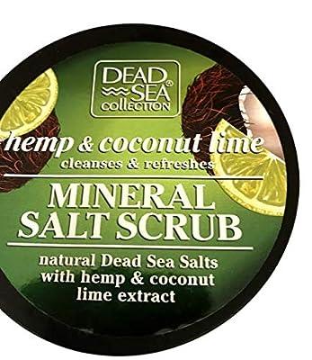 Dead Sea Mineral Salt Scrub Hemp & Coconut Lime Cleanses & Refreshes Body Skin
