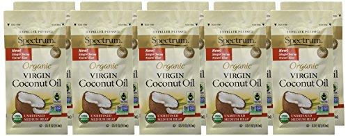 Spectrum Organic Unrefined Virgin Coconut Oil Packets, 10 Count by Spectrum (Image #1)