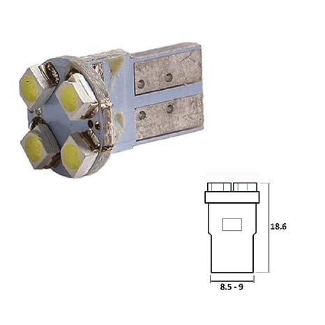 Bombilla LED azul 12 V T10, W2.1 x 9.5d Wedge 4 x