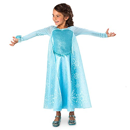 Disney Frozen Elsa Deluxe Costume with Light-up Bracelet Size 9/10 (Disney Frozen Deluxe Elsa Costume)