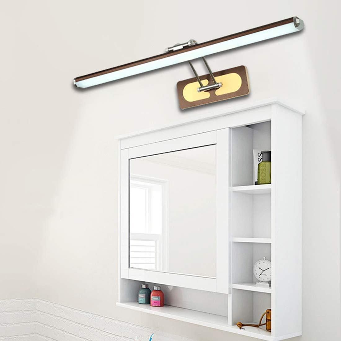 220V,22w59cm Brown LED Spiegelleuchte Dimmen Acryl Bad Wasserdicht Schminklicht Winkel Verstellbare Dekorative Spiegelschrank Licht