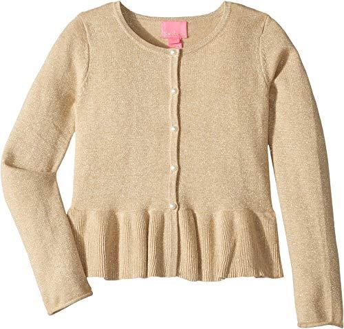 Lilly Pulitzer Kids Baby Girl's Adelaide Cardigan (Toddler/Little Kids/Big Kids) Gold Metallic ()