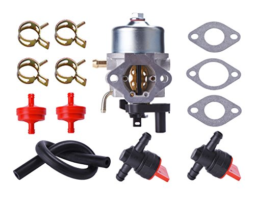 Max Power Fuel Line (Neeknn 801396 Carburetor with Fuel Filter Line Valve for Briggs and Stratton 801233 801255 Toro Power Clear R-TEK 2 Cycle CCR2400 CCR2450 CCR2500 CCR3000 CCR3600 CCR3650 Snowblower)