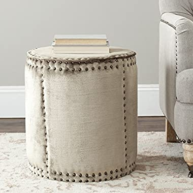 Safavieh Mercer Collection Paula Ottoman, Antique Sage
