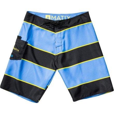Matix Men's Stringer Boardshorts 34 Black - Short Matix Clothing