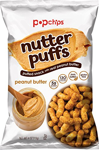- Popchips Nutter Puffs Peanut Butter 4 oz Bags (Pack of 5)