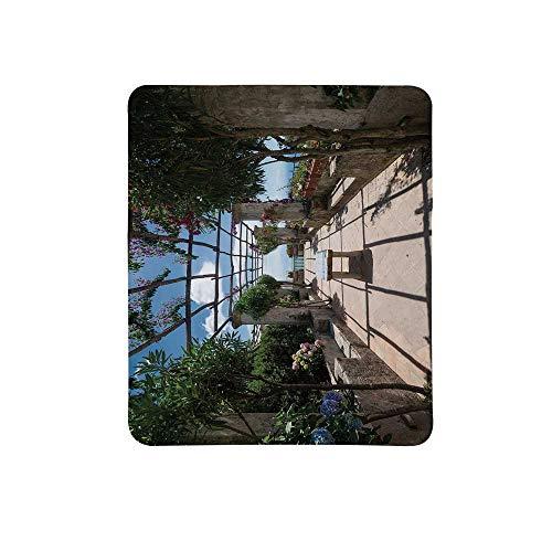 Italian Decor Non Slip Mouse Pad,Beautiful Panorama Villa Rufolo Ravello Amalfi Coast Historical Famous Nature for Home & Office,11