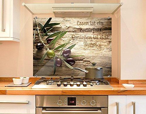 klebefieber spritzschutz olivenzweig b x h 80cm x 60cm amazon de kuche haushalt