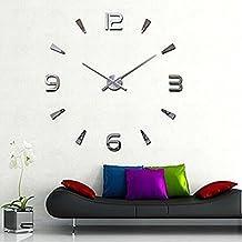 DIY Wall Clocks, Lance Home Fashion Adhesive Modern DIY Large Wall Clock Mural Sticker Time Home Living Room Design Decor