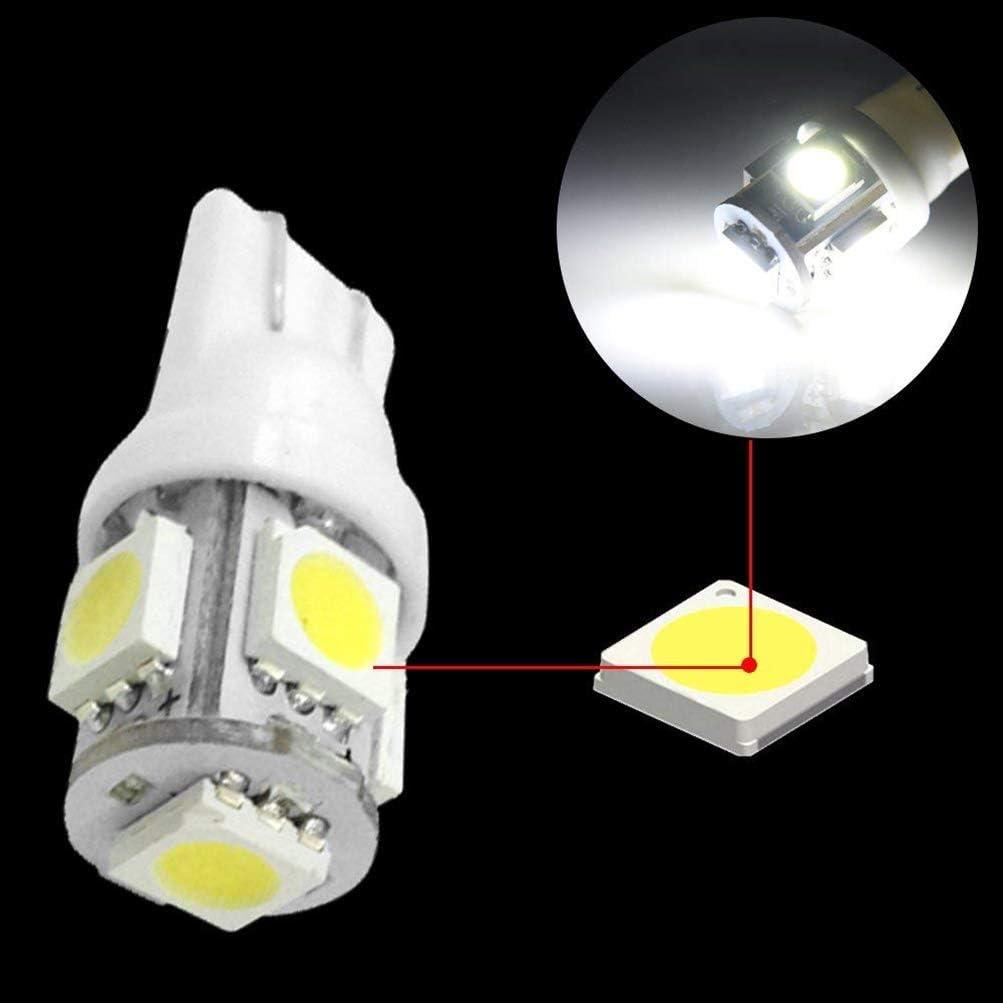 6Pcs Bianco Car Interior Light per RAV4 Luci targa Lampade Mappa LED Lettura Bulbi