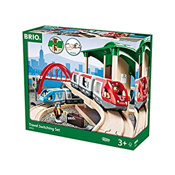 Image of Baby BRIO World - 33512 Travel Switching Set | 42 Piece Train Toy with Accessories and Wooden Tracks for Kids Ages 3 and Up