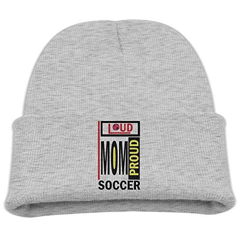 er Mom Soccer Heart Kids Graphic Beanies Black ()