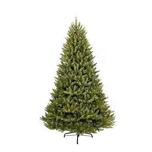 - Puleo International 7.5-Foot Pre-Lit Fraser Fir 750 Clear UL-Listed Lights Artificial Christmas Tree, Ft