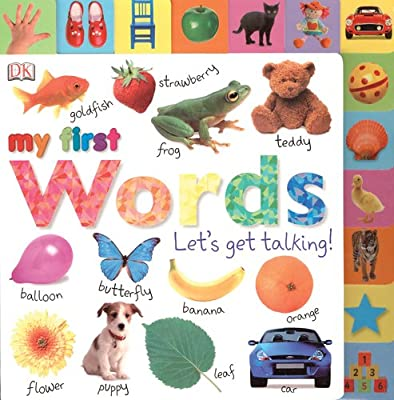 Tabbed Board Books My First Words Lets Get Talking from DK Preschool