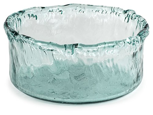 100% Recycled Glass Textured Large Round Salad Bowl - 11