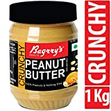 Bagrry's Natural Peanut Butter, Crunchy, 1 KG, Unsweetened