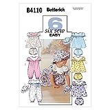 Butterick Patterns B4110 Infants' Dress, Panties, Jumpsuit and Hat, All Sizes