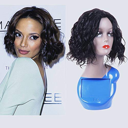 Amazon.com   Molefi Human Hair Wigs for Black Women 100% Human Hair Short  Wigs Loose Curly Wigs with Bangs Machine Made Fashion Looking (Natural  Curly)   ... 131823e877