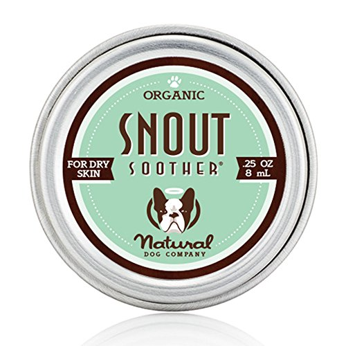 Natural Dog Company Snout Soother – Dog Nose Remedy – All-Natural Remedy for Chapped Dog Noses – Vegan Dog Balm – Veterinarian Recommended – .25 Ounce Tin
