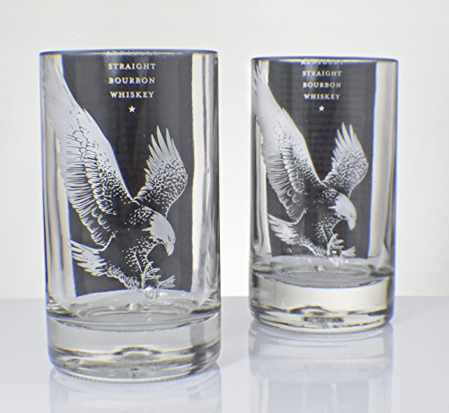 Eagle Rare Bottle Upcycled Tumbler Glass Set of Two(2) by RDI Glass ()