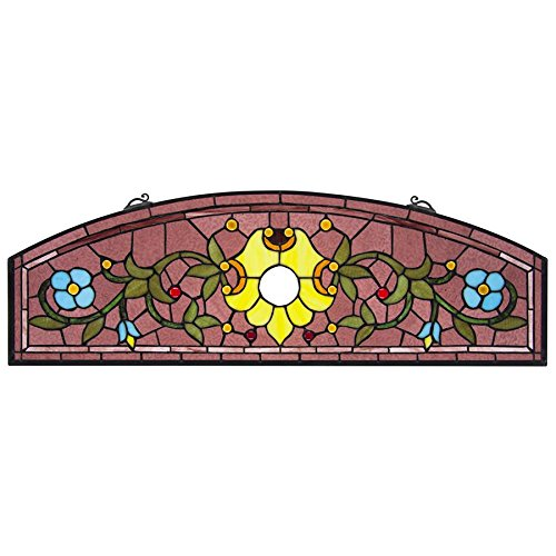 Stained Glass Panel - Ambrosia Demi-Lune Stained Glass Window Hangings - Window Treatments -