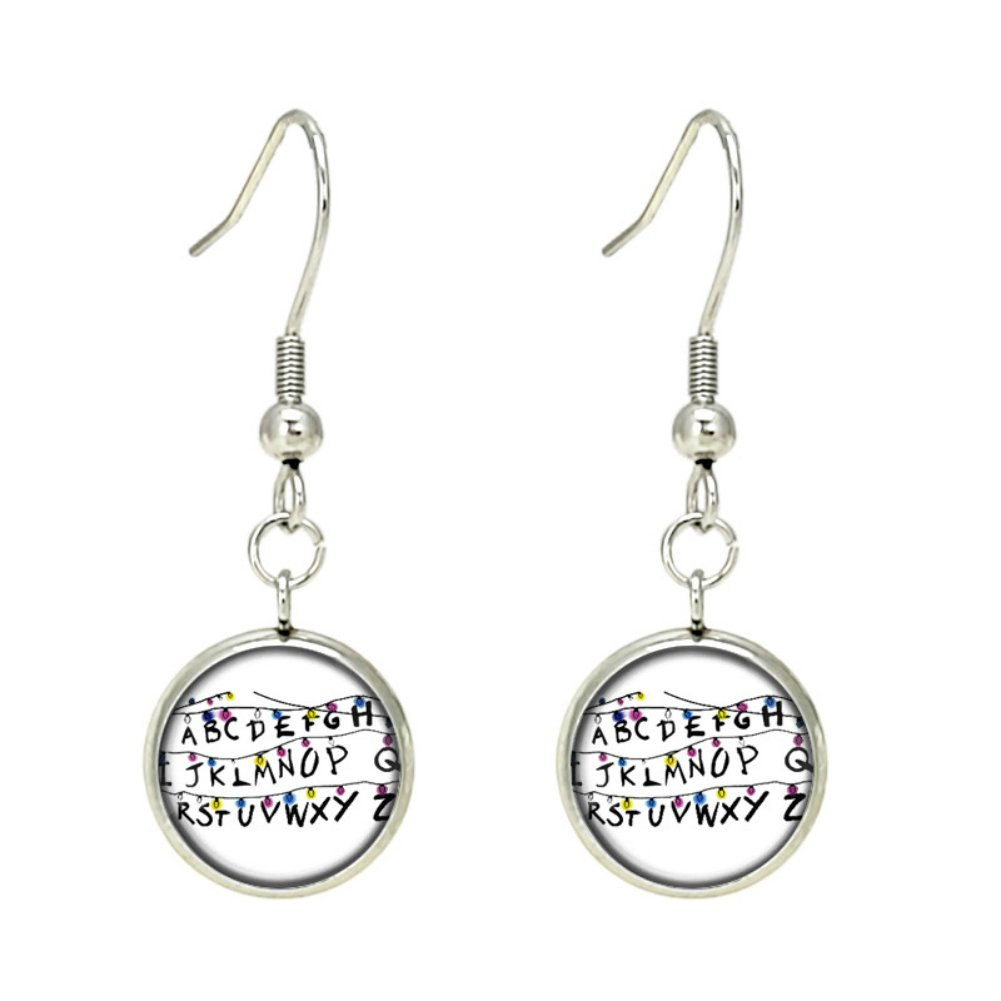 Stranger Things Charms Silver Tone Earrings Cosplay Costume w/Gift Box by Superheroes