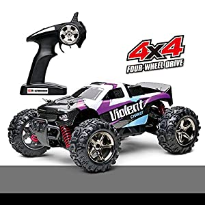 Fast Rc Cars, Demaxis Rtr Electric 4x4 High Speed 32 mph Rc Buggy 1/24 Scale (Purple)