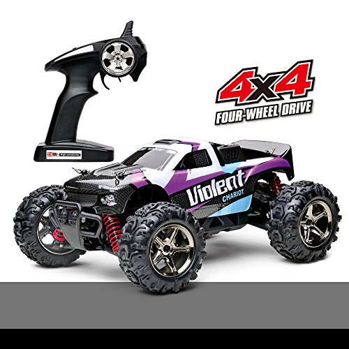 Demaxis Fast Rc Cars, Rtr Electric Remote Control Car 4x4 High Speed 32 mph Rc Buggy 1/24 Scale (Purple)